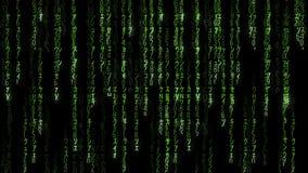 Falling green matrix code