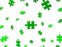 Falling green puzzle Stock Images