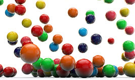 Falling gumballs Stock Photos