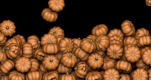 Falling Halloween pumpkins stock video