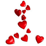 Falling Hearts Royalty Free Stock Images
