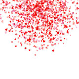 Falling hearts background Royalty Free Stock Images