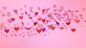 Falling hearts,happy valentines day,animation. Falling hearts,happy valentines day,best animation stock footage