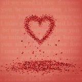 Falling hearts Stock Image