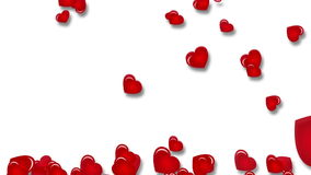 Falling hearts stock footage
