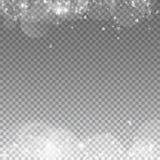 Falling hearts valentine background. Borders on transparent grid dark background. Falling hearts valentines day terrific design. Vector illustration stock illustration