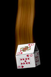 A falling house of cards Stock Image