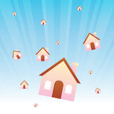 Falling Houses Stock Photography