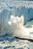 Falling ice, Perito Moreno Glacier, Argentina Stock Photo