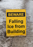 Before Falling Ice Sign Stock Images