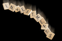 Falling Investments Stock Photography