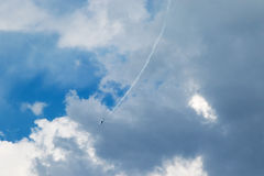 Falling jet aircraft Royalty Free Stock Images