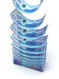 Falling Kazakh Tenge Royalty Free Stock Photos