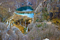 Falling lakes of Plitvice national park Royalty Free Stock Photos