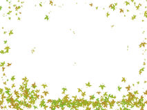 Falling leaves. Illustration of falling leaves over white background. Useful for greeting cards, postcards in theme with the autumn Royalty Free Stock Photos