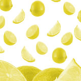 Falling Lemon Background Royalty Free Stock Photography