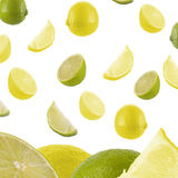 Falling Lemon Background Stock Image
