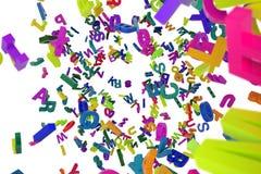 Falling letters alphabet. Abc alphabet Royalty Free Stock Image