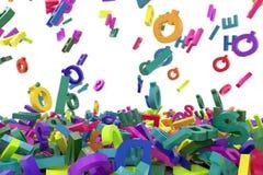 Falling letters alphabet. Abc alphabet Stock Images