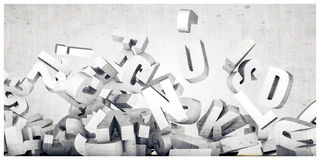 Falling letters Stock Images
