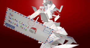 Falling Letters To Santa Royalty Free Stock Photography