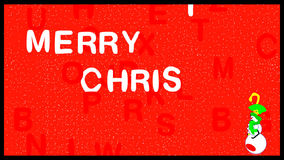 Falling letters written word Christmas stock video footage