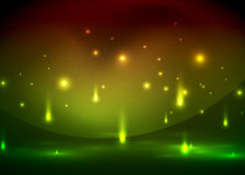 Falling lights in darkness. Magic vector abstract background Royalty Free Stock Images