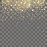 Falling of lights on transparent background. Glitter particle effects. Vector Stock Photo