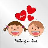 Falling in love Royalty Free Stock Images