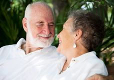 Falling In Love Again. Happy senior couple falling in love all over again. Assignment file Stock Images