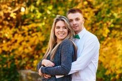 Falling in love autumn Stock Photos