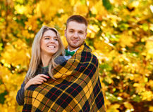 Falling in love autumn Royalty Free Stock Images