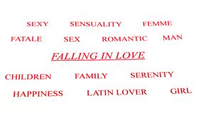 Falling in love. Beautiful background of love in white background royalty free stock photography