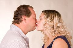 Falling in love is a man and woman Royalty Free Stock Photos