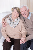 Falling in love in old age Stock Image
