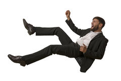 Falling Man isolated Stock Image