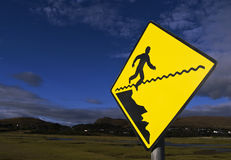 Falling man sign Royalty Free Stock Photography