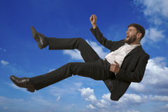 Falling Man in Sky Stock Photos