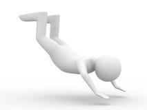 Falling man on white background Stock Photo