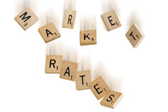 Falling Market Rates Royalty Free Stock Image