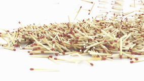 Falling Match Sticks 3D Animation stock footage