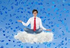 Falling media symbol Royalty Free Stock Photo