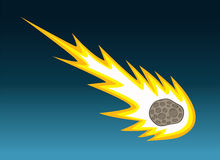 Falling Meteor. A meteor entering the atmosphere and beginning to burn up from the friction Stock Images