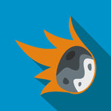Falling meteor flat icon Royalty Free Stock Images