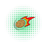 Falling meteor with long tail icon, comics style Royalty Free Stock Photography