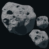 Falling Meteorite. Asteroids Stock Photo