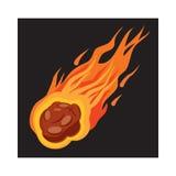 Falling meteorite icon, cartoon style Stock Photo