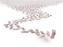 Falling Mexican Pesos Royalty Free Stock Photo