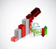 Falling monetary concept illustration Stock Photo