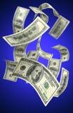 Falling Money $100 Bills Stock Photography
